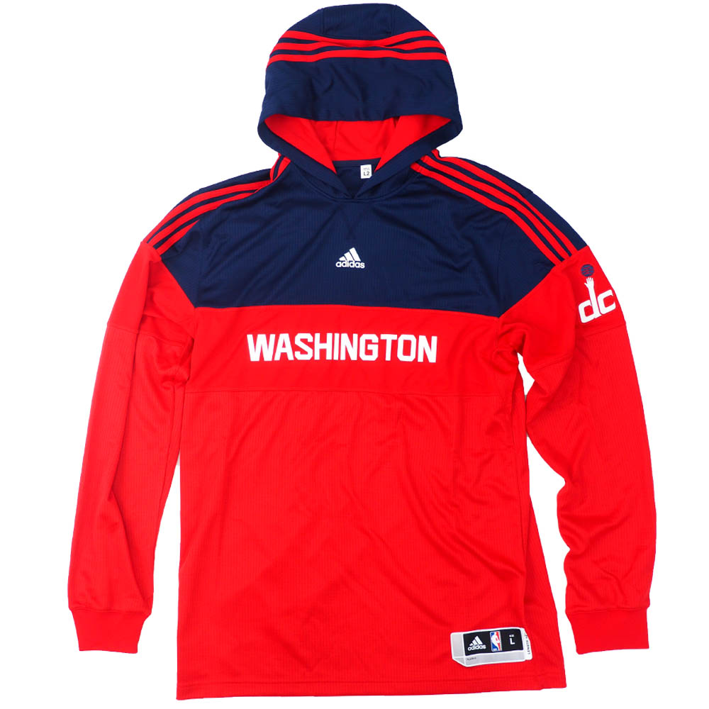 NBA ウィザーズ パーカー/フーディー Pre Game On Court Warm Up アディダス/Adidas Red/Navy
