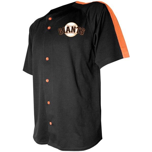 MLB サンフランシスコ・ジャイアンツ ユニフォーム/ジャージ ロゴ ボタンダウン Stitches ブラック