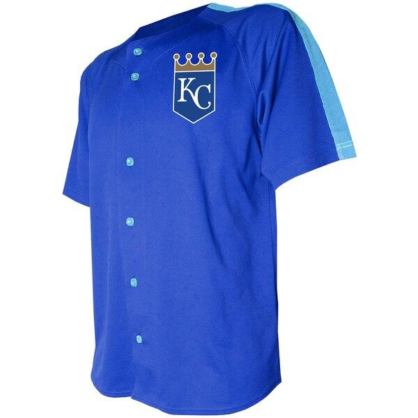 MLB カンザスシティ・ロイヤルズ ユニフォーム/ジャージ ロゴ ボタンダウン Stitches ロイヤル