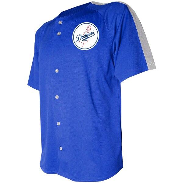MLB ロサンゼルス・ドジャース ユニフォーム/ジャージ ロゴ ボタンダウン Stitches ロイヤル