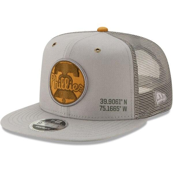 MLB フィラデルフィア・フィリーズ キャップ/帽子 ラティチュード トラッカー 9FIFTY ニューエラ/New Era グレー