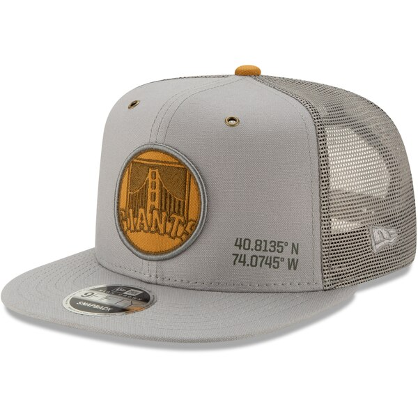 MLB サンフランシスコ・ジャイアンツ キャップ/帽子 ラティチュード トラッカー 9FIFTY ニューエラ/New Era グレー
