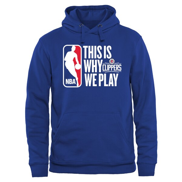 NBA パーカー ロサンゼルス・クリッパーズ フーディー ディス イズ ワイ ウィー プレー プルオーバー ロイヤル