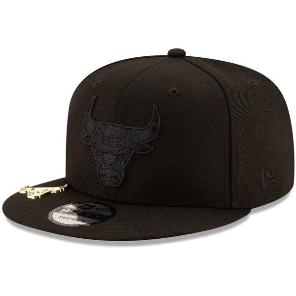 NBA シカゴ・ブルズ キャップ/帽子 ブラック オン ブラック メタル デュエル 9FIFTY ニューエラ/New Era ブラック