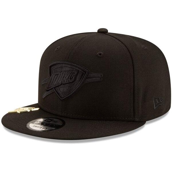 NBA オクラホマシティ・サンダー キャップ/帽子 ブラック オン ブラック メタル デュエル 9FIFTY ニューエラ/New Era ブラック