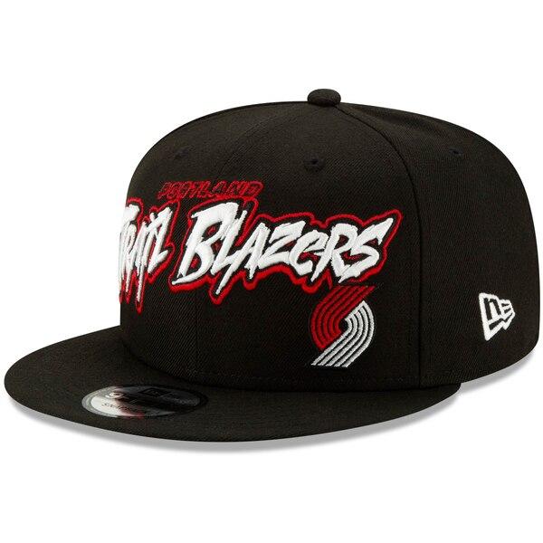 NBA ポートランド・トレイルブレイザーズ キャップ/帽子 レトロ グラフィティ 9FIFTY ニューエラ/New Era ブラック