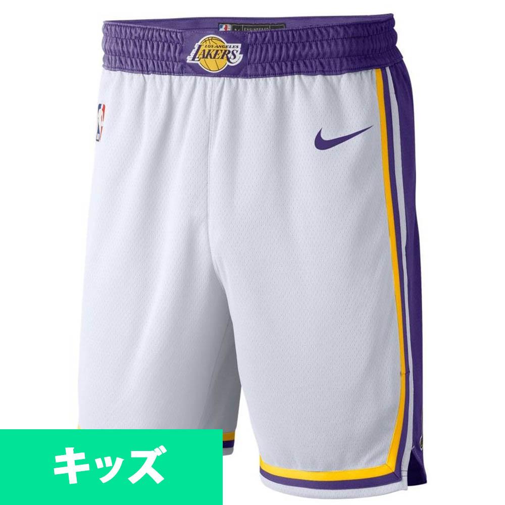 NBA ロサンゼルス・レイカーズ ショートパンツ/ショーツ ユース アソシエーション スウィングマン ナイキ Nike ホワイト