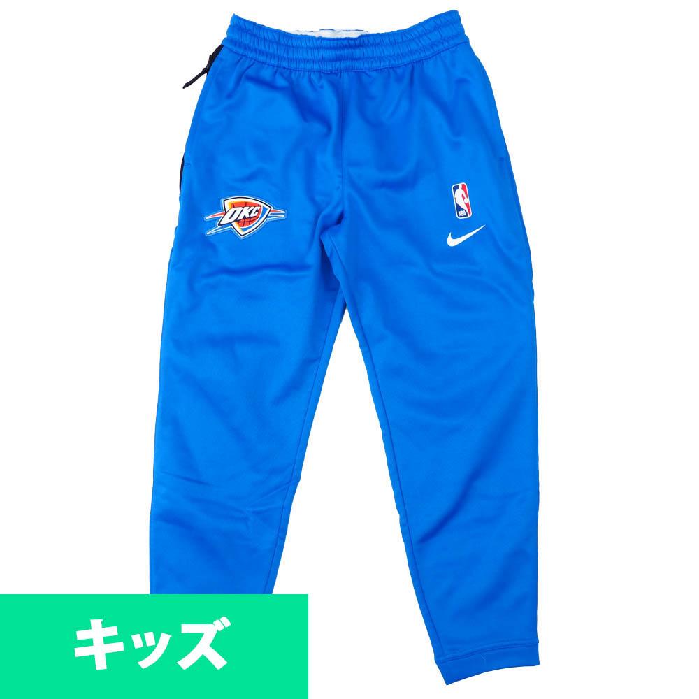 NBA オクラホマシティ・サンダー ロングパンツ/ズボン ユース スポットライト サーマ パンツ ナイキ Nike ブルー