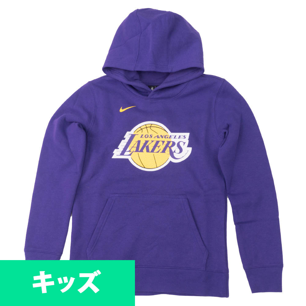 <title>あす楽対応 NBAチームロゴユースサイズパーカー NBA 公式通販 ロサンゼルス レイカーズ パーカー フーディー ユース エッセンシャル ロゴ ナイキ Nike パープル</title>