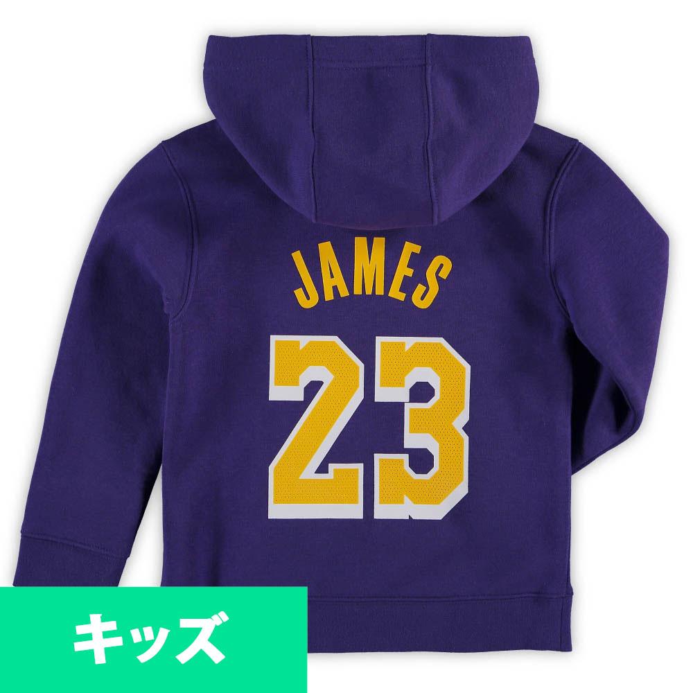 NBA レブロン・ジェームス ロサンゼルス・レイカーズ パーカー/フーディー ユース ネーム&ナンバー プルオーバー ナイキ/Nike