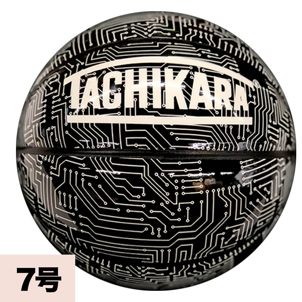 あす楽対応 高いグリップ性と独創的なデザインのバスケットボール 訳あり品送料無料 TACHIKARA 新色追加 CIRCUIT ブラック BOARD ホワイト