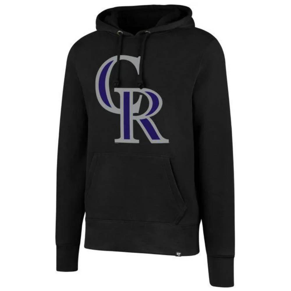 MLB コロラド・ロッキーズ パーカー/フーディー ヘッドライン プルオーバー 47 Brand ブラック