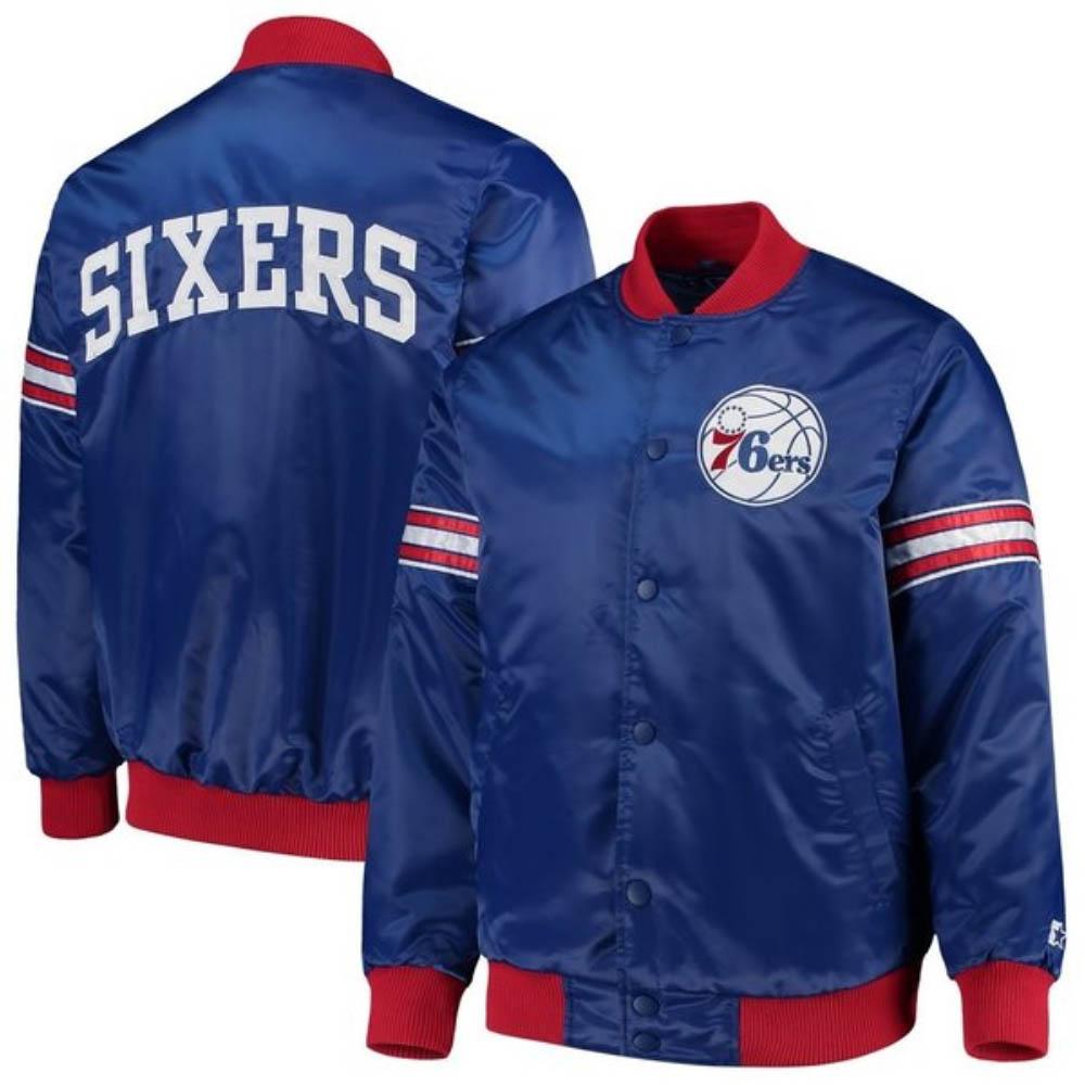【リニューアル記念メガセール】NBA フィラデルフィア・76ers ジャケット/アウター ドラフトピック バーシティー サテン STARTER