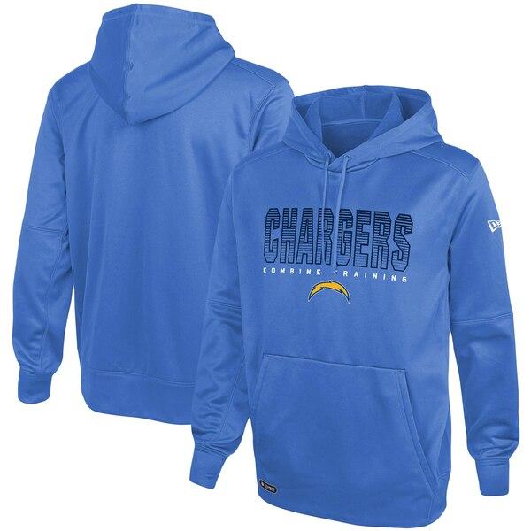 NFL パーカー チャージャース フーディー コンバイン チーム プライド プルオーバー ニューエラNew Era パウダーブルー