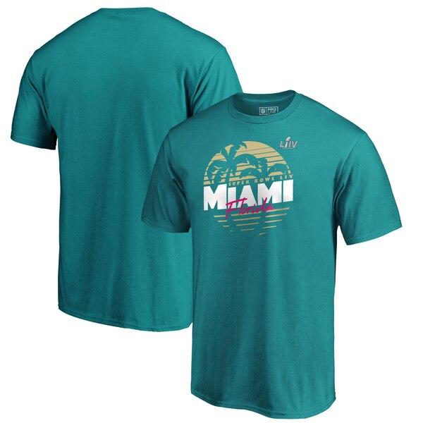 NFL Tシャツ 第54回スーパーボウル記念 ゴールド シェード アクア
