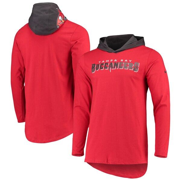 NFL バッカニアーズ Tシャツ ヘルメット フード ロング スリーブ ナイキ/Nike レッド
