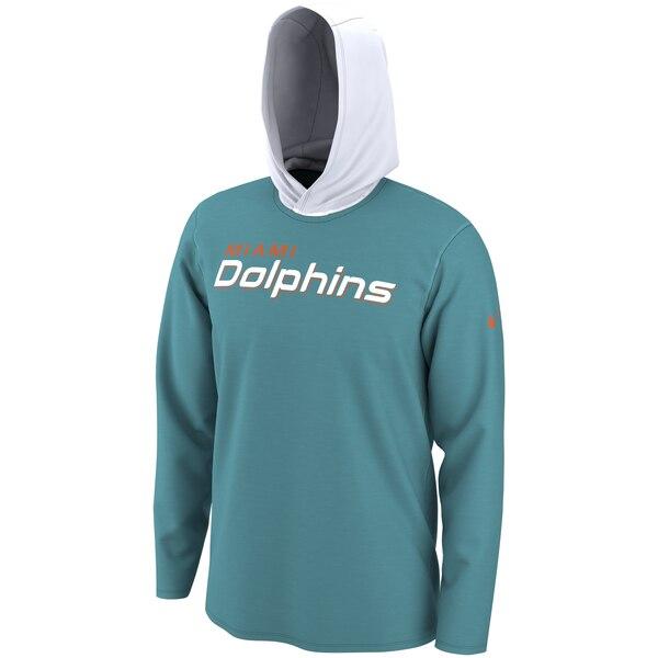 NFL ドルフィンズ Tシャツ ヘルメット フード ロング スリーブ ナイキ/Nike アクア