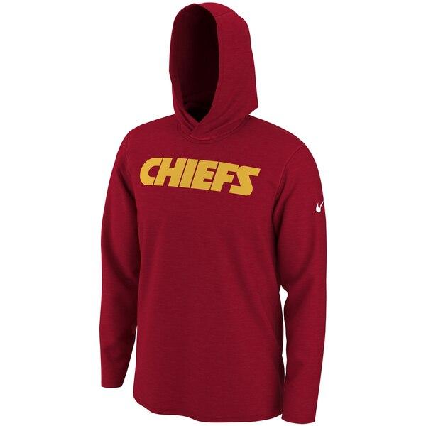 スーパーボウル進出 NFL チーフス Tシャツ ヘルメット フード ロング スリーブ ナイキ/Nike レッド
