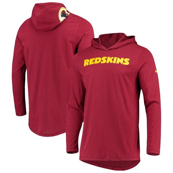 NFL レッドスキンズ Tシャツ ヘルメット フード ロング スリーブ ナイキ/Nike バーガンディ