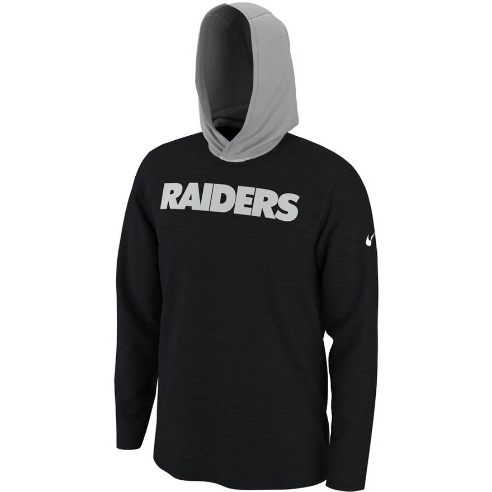 NFL レイダース Tシャツ フーディー ヘルメット ロング スリーブ ナイキ/Nike ブラック BQ5114-010