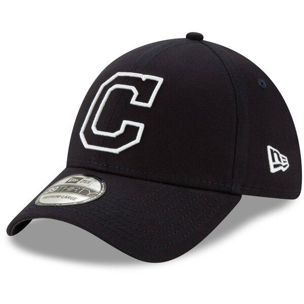 インディアンス キャップ ニューエラ New Era MLB ロゴ エレメンツ 39THIRTY ネイビー
