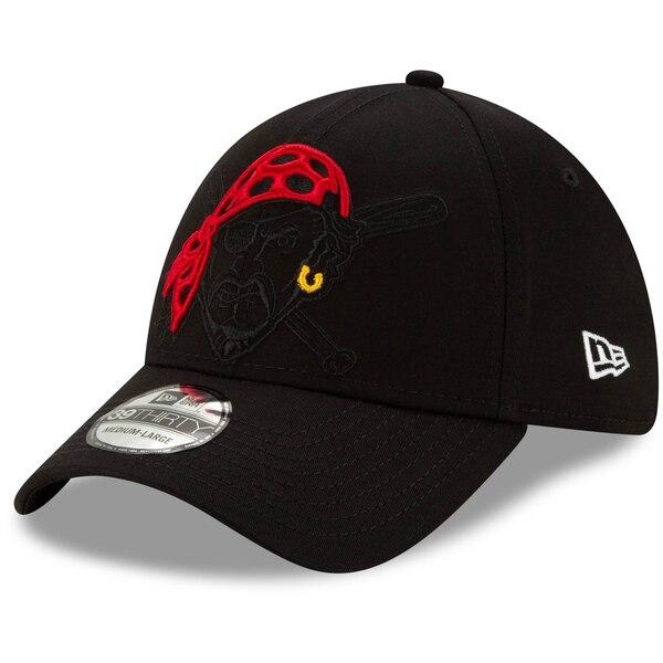 パイレーツ キャップ ニューエラ New Era MLB ロゴ エレメンツ 39THIRTY ブラック