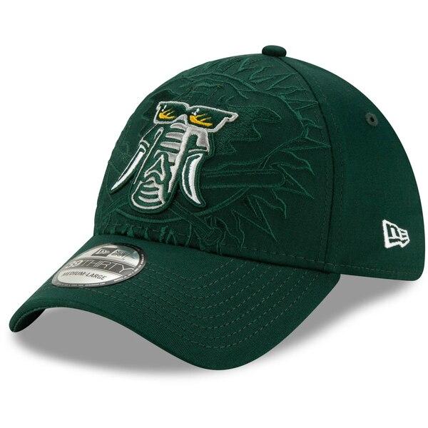 アスレチックス キャップ ニューエラ New Era MLB ロゴ エレメンツ 39THIRTY グリーン
