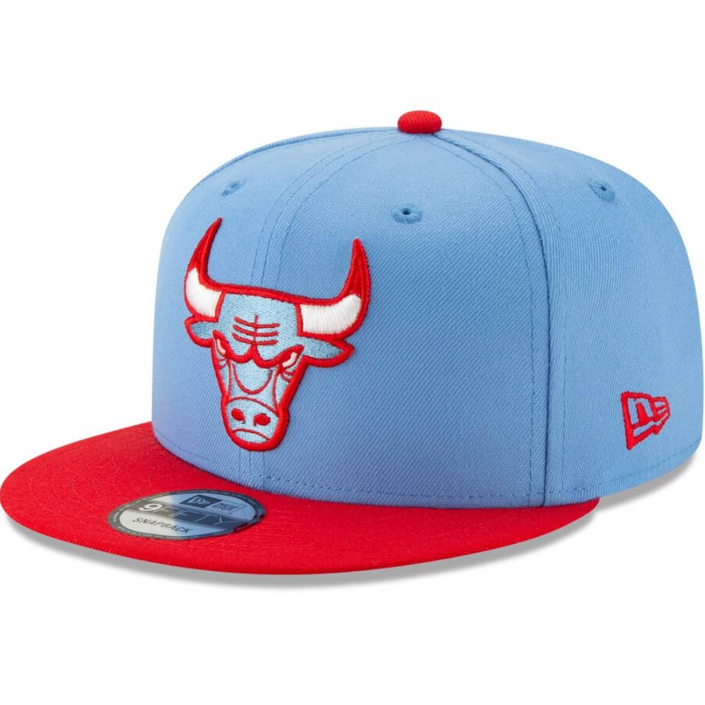 NBA シカゴ・ブルズ キャップ/帽子 2019/20 シティ エディション スナップバック ニューエラ/New Era ライトブルー