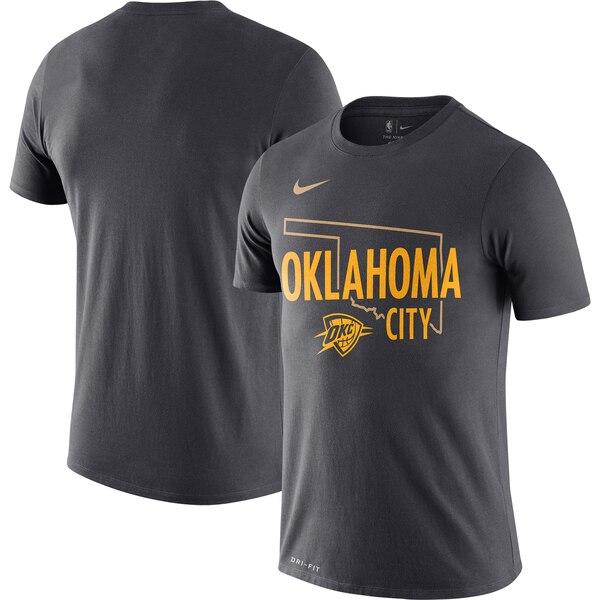 サンダー Tシャツ ナイキ Nike NBA 2019/20 シティエディション ホームタウン パフォーマンス アンスラサイト