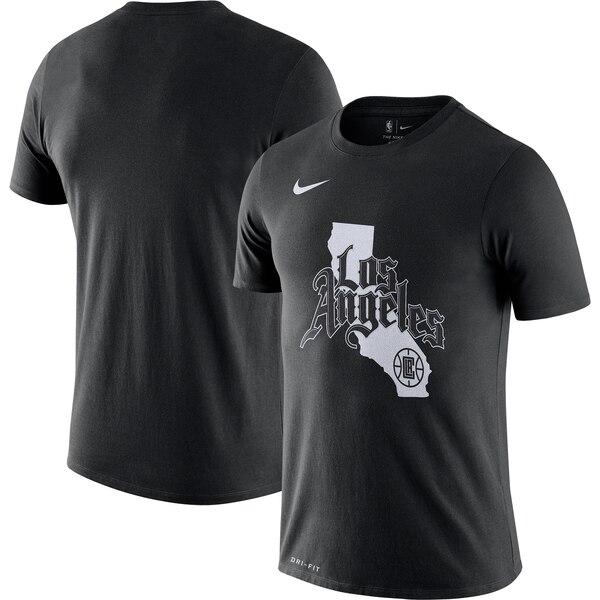 クリッパーズ Tシャツ ナイキ Nike NBA 2019/20 シティエディション ホームタウン パフォーマンス ブラック