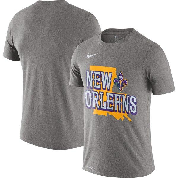 ペリカンズ Tシャツ ナイキ Nike NBA 2019/20 シティエディション ホームタウン パフォーマンス ヘザーグレー