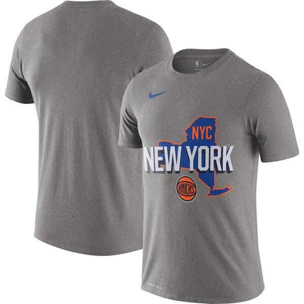 ニックス Tシャツ ナイキ Nike NBA 2019/20 シティエディション ホームタウン パフォーマンス ヘザーグレー
