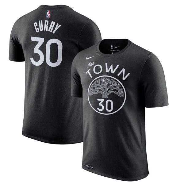 ステフィン カリー ウォリアーズ Tシャツ ナイキ Nike NBA 2019/20 シティエディション ネーム & ナンバー ブラック