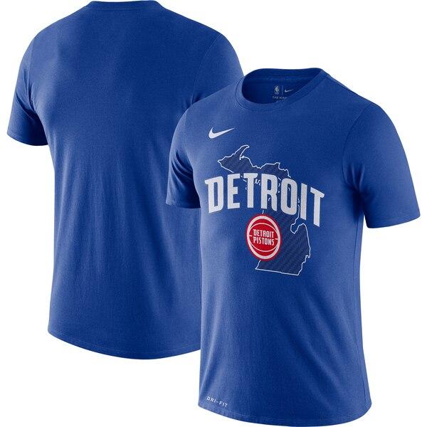 ピストンズ Tシャツ ナイキ Nike NBA 2019/20 シティエディション ホームタウン パフォーマンス ブルー
