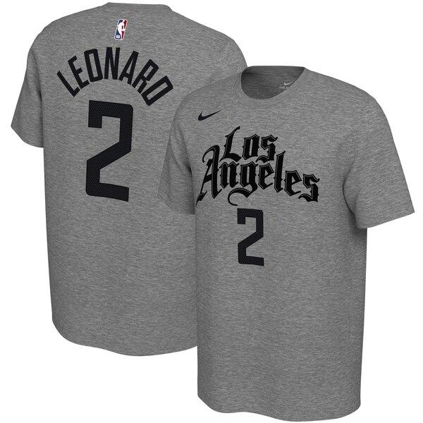 カワイ レナード クリッパーズ Tシャツ ナイキ Nike NBA 2019/20 シティエディション バリアント ネーム & ナンバー