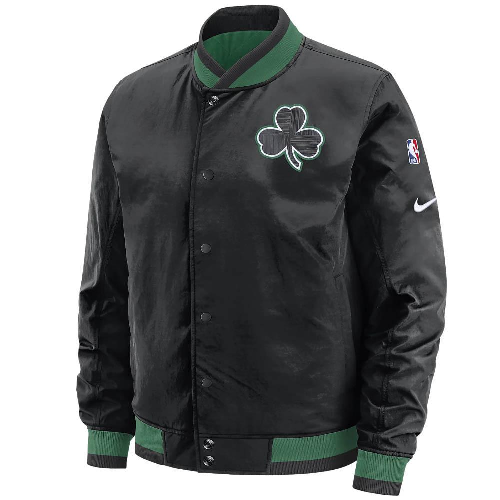 NBA ボストン・セルティックス ジャケット/アウター コートサイド ナイキ/Nike ブラック グリーン AV6580-010
