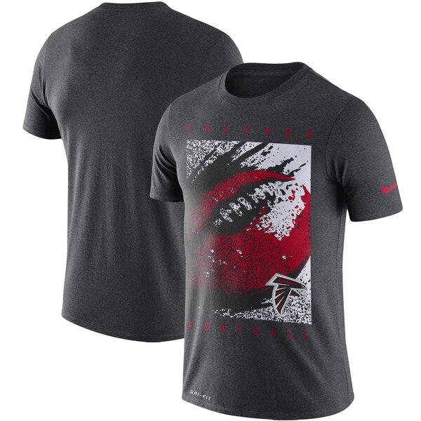 ファルコンズ Tシャツ ナイキ Nike NFL ファン ギア メッゾ アイコン パフォーマンス ヘザーチャコール