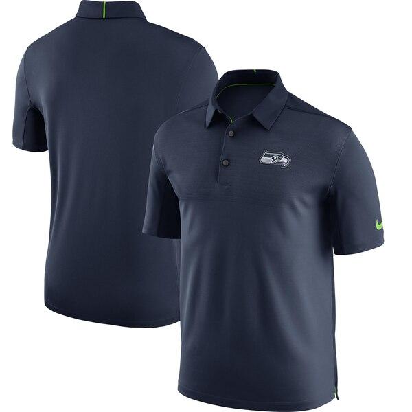 シーホークス ポロシャツ ナイキ Nike NFL サイドライン エリート コーチ チーム カラー パフォーマンス ネイビー