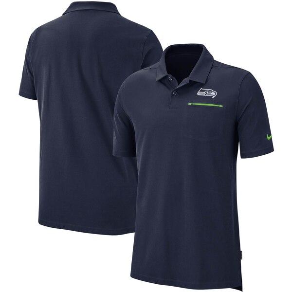 シーホークス ポロシャツ ナイキ Nike NFL サイドライン エリート パフォーマンス カレッジネイビー