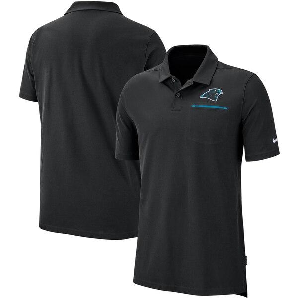 パンサーズ ポロシャツ ナイキ Nike NFL サイドライン エリート パフォーマンス ブラック