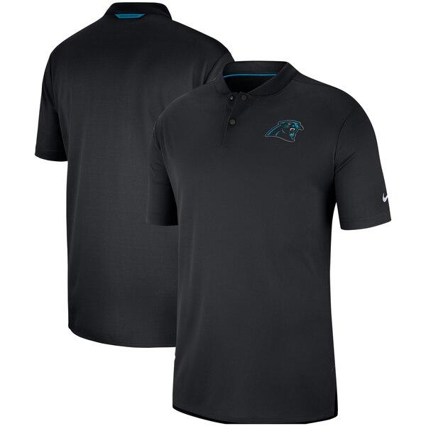 パンサーズ ポロシャツ ナイキ Nike NFL サイドライン エリート コーチ パフォーマンス ブラック