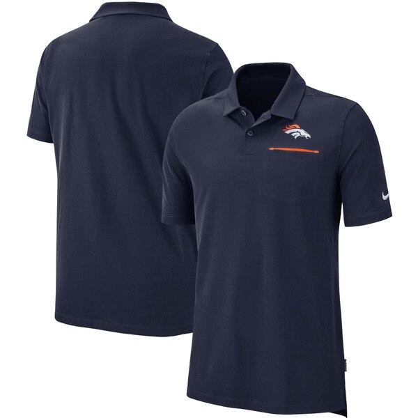 ブロンコス ポロシャツ ナイキ Nike NFL サイドライン エリート パフォーマンス ネイビー