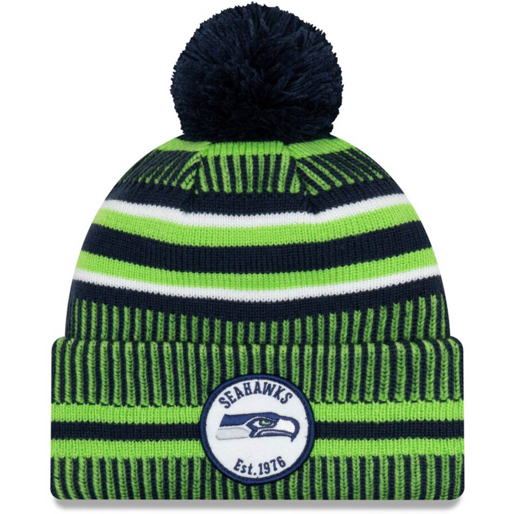 シーホークス ニットキャップ NFL ニューエラ New Era ニット帽 2019 サイドライン ホーム オフィシャル スポーツ