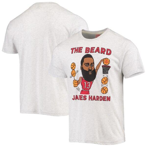 NBA ジェームス・ハーデン ヒューストン・ロケッツ Tシャツ カリカチュア トライブレンド Homage グレー