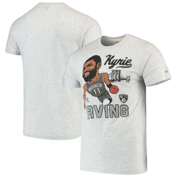 NBA カイリー・アービング ブルックリン・ネッツ Tシャツ カリカチュア トライブレンド Homage グレー