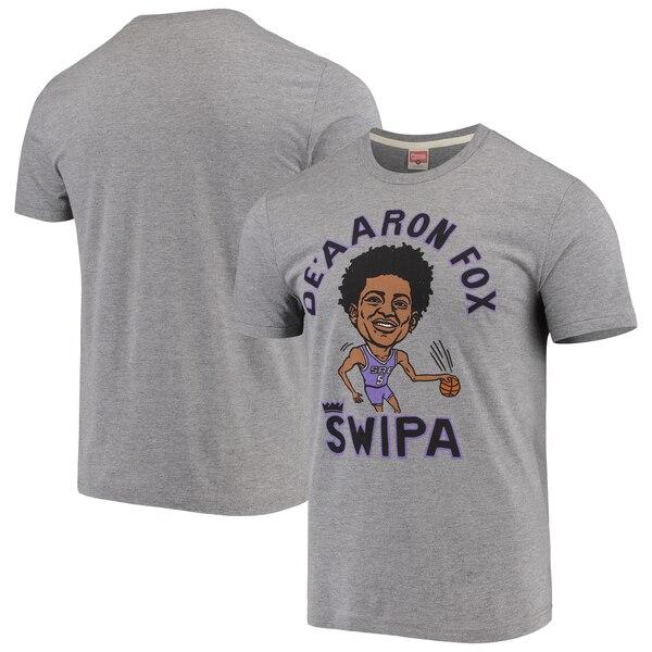 NBA ディアロン・フォックス サクラメント・キングス Tシャツ カリカチュア トライブレンド Homage グレー