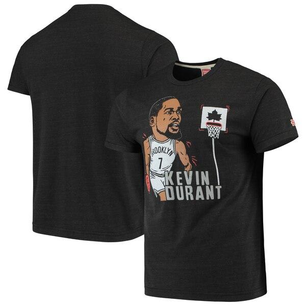 NBA ケビン・デュラント ブルックリン・ネッツ Tシャツ カリカチュア トライブレンド Homage ヘザーチャコール