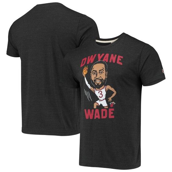 NBA ドウェイン・ウェイド マイアミ・ヒート Tシャツ カリカチュア トライブレンド Homage チャコール