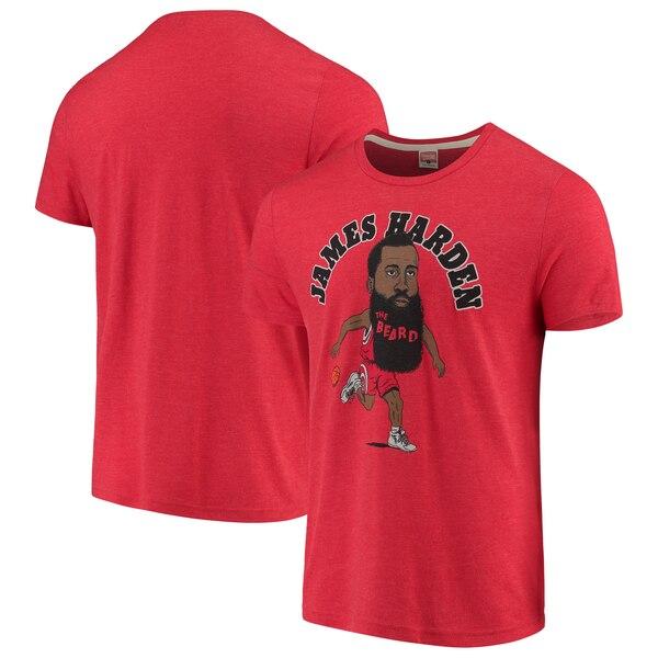 NBA ジェームス・ハーデン ヒューストン・ロケッツ Tシャツ カリカチュア トライブレンド Homage レッド