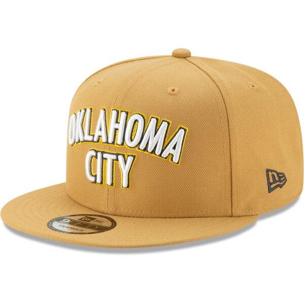 NBA オクラホマシティ・サンダー キャップ/帽子 2019/20 シティエディション オンコート 9FIFTY ニューエラ/New Era ゴールド